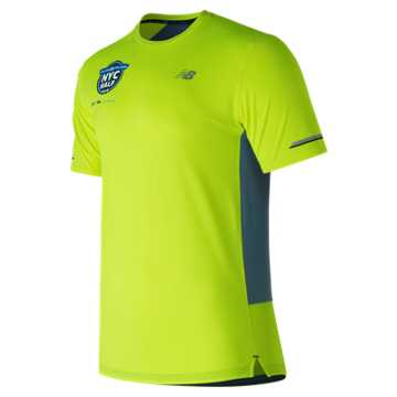New Balance United Airlines NYC Half NB Ice 2.0 Short Sleeve, Hi-Lite