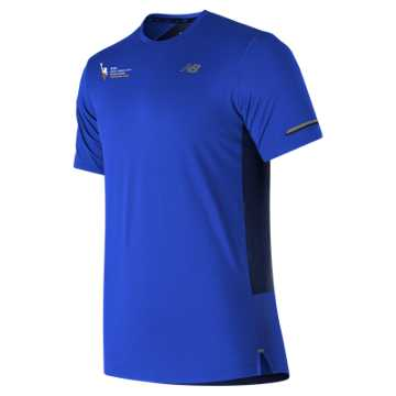 New Balance NYC Marathon Training NB Ice 2.0 Short Sleeve, Pacific