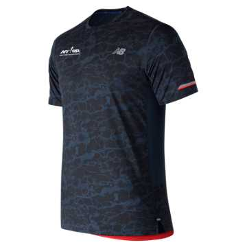 New Balance Run 4 Life NB Ice 2.0 Printed Short Sleeve, Galaxy