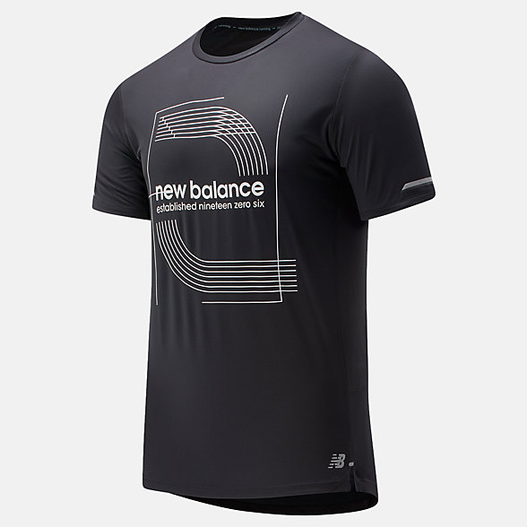 New Balance Printed NB Ice 2.0 Short Sleeve, MT81201BKW
