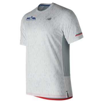 New Balance Run 4 Life NB Ice 2.0 Printed Short Sleeve, White