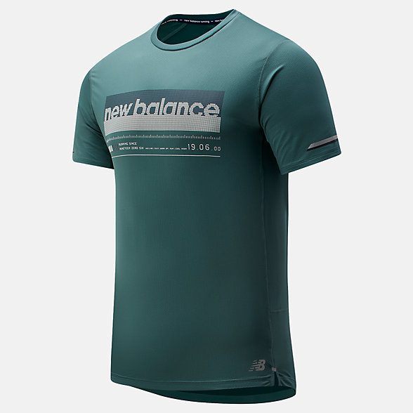 New Balance Printed NB Ice 2.0 Short Sleeve, MT81201DVE
