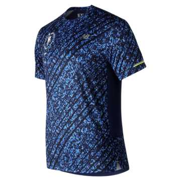 New Balance NYC Marathon NB Ice 2.0 Short Sleeve, Techtonic Blue