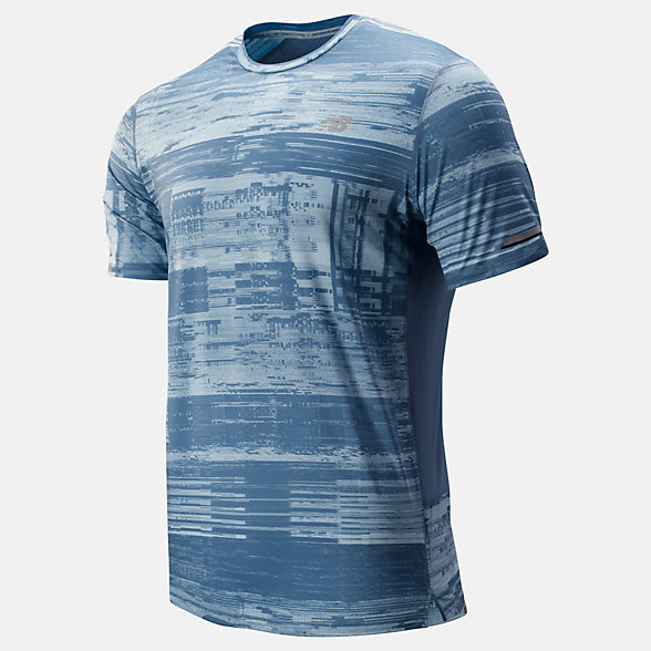 New Balance Printed NB Ice 2.0 Short Sleeve, MT81201WNS