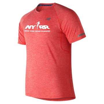 New Balance Run 4 Life NB Ice 2.0 Mesh Short Sleeve, Flame