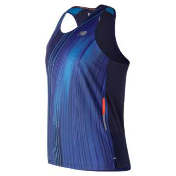 New Balance Printed NB Ice 2E Singlet, Pigment
