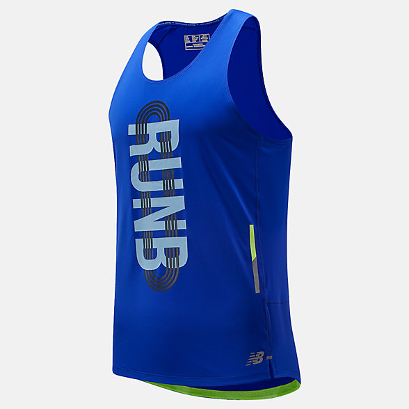 New Balance Printed NB Ice 2.0 Singlet, MT81223UVB