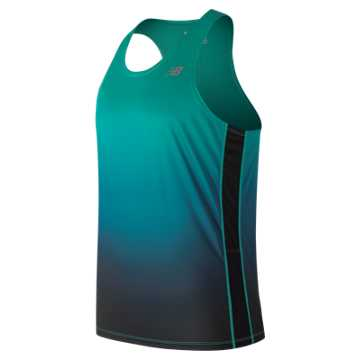 New Balance Accelerate Graphic Singlet, Tidepool