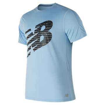 New Balance Accelerate Graphic Short Sleeve, Clear Sky