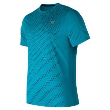 New Balance Accelerate Graphic Short Sleeve, Maldives Blue