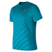 NB Accelerate Graphic Short Sleeve, Maldives Blue