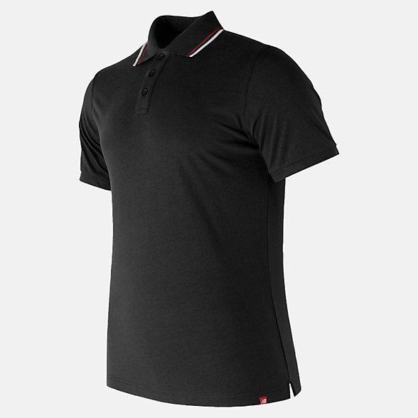 New Balance Essentials Cotton Polo, MT81535BK