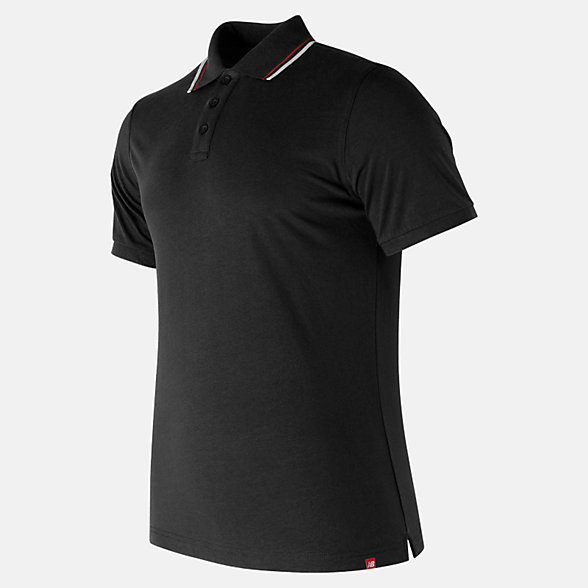New Balance Essentials Cotton Polo, MT81535BK