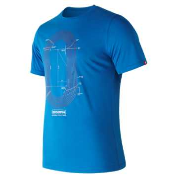 New Balance Tracktastic Tee, Laser Blue