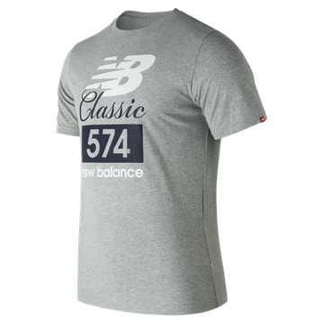 New Balance Classic 574 Tee, Athletic Grey