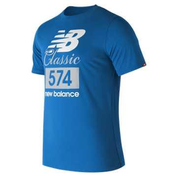 New Balance Classic 574 Tee, Laser Blue