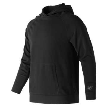 New Balance 247 Luxe Knit Pullover Hoodie, Black