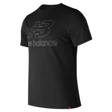 New Balance Essentials Landing Tee, Black