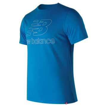New Balance Essentials Landing Tee, Laser Blue