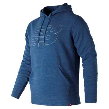 New Balance Heather Pullover Hoodie, Lake Blue