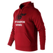 New Balance NB Numeric Logo Stacked Hoodie, Scarlet