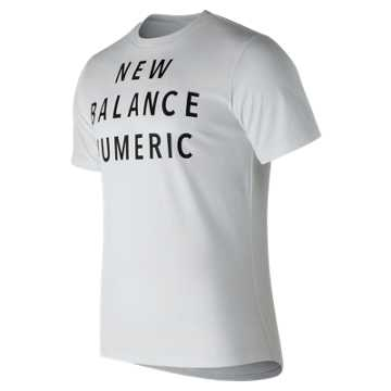 New Balance NB Numeric Wordmark Tee, White