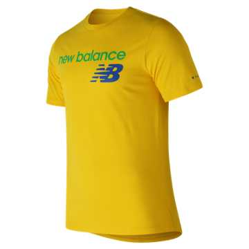 New Balance NB Athletics Tee, Atomic Yellow