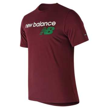 New Balance NB Athletics Tee, Burgundy