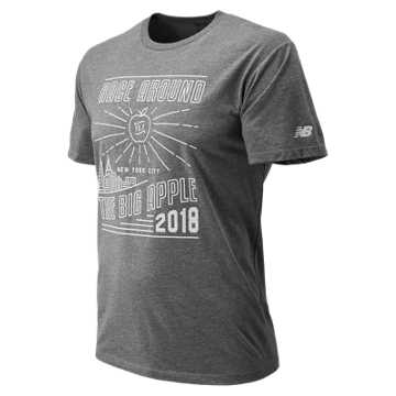 New Balance United Airlines NYC Half Big Apple Short Sleeve, Grey