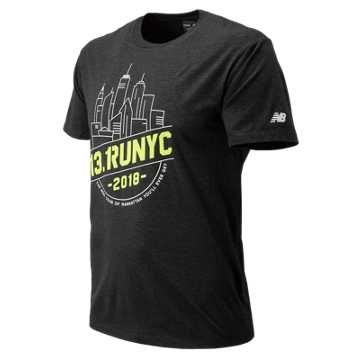 New Balance United Airlines NYC Half Tour NYC Short Sleeve, Black