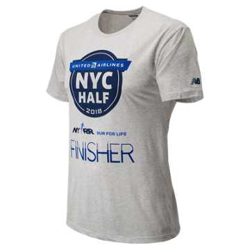 New Balance United Airlines NYC Half Finisher Short Sleeve, White