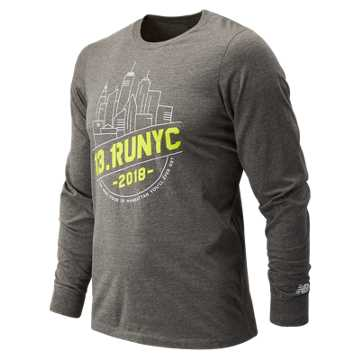 New Balance United Airlines NYC Half Tour NYC Long Sleeve, Grey