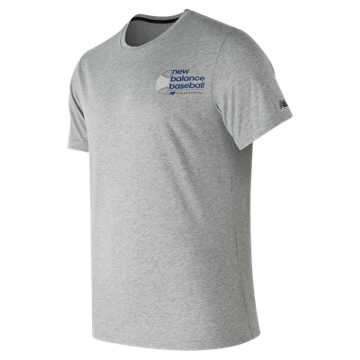 New Balance Long Ball Tech Tee, Athletic Grey