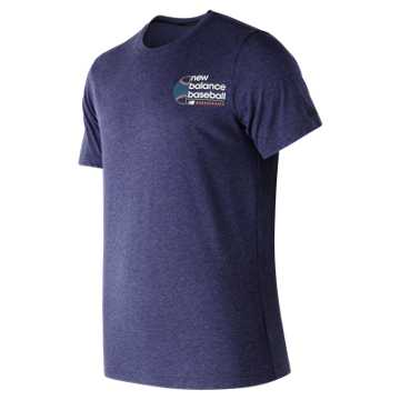 New Balance Long Ball Tech Tee, Team Navy