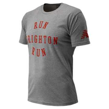 New Balance Run Brighton Run Tee, Grey