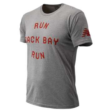 New Balance Run Back Bay Run Tee, Grey
