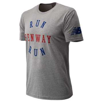New Balance Run Fenway Run Tee, Grey