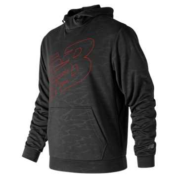 New Balance Embossed NB CoreFleece Hoodie, Black Multi