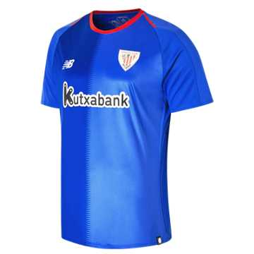 New Balance Athletic Club Mens Away Short Sleeve Jersey, Dazzling Blue
