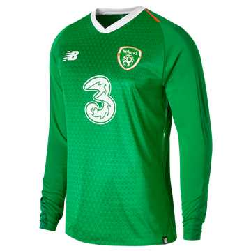 New Balance FA Ireland Home Long Sleeve Jersey, Jolly Green