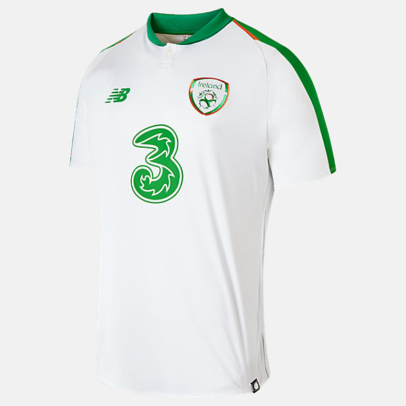 New Balance FA Ireland Away Short Sleeve Jersey, MT830207WT