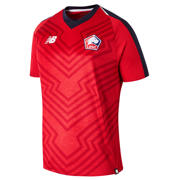NB Lille OSC Home Short Sleeve Jersey, Heather Red