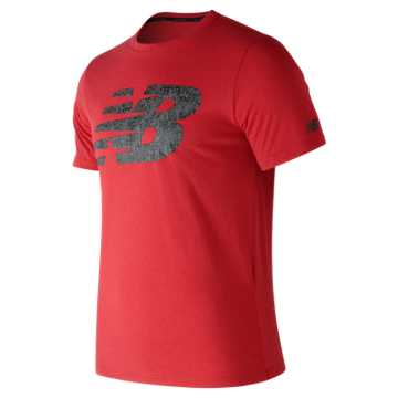 New Balance NB Heather Tech Tee, Red Pepper