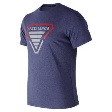 New Balance Hero Heather Tech Tee, Pigment