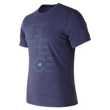 New Balance Pace Heather Tech Tee, Pigment