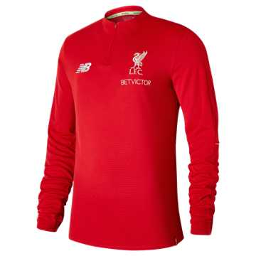 New Balance Liverpool FC Elite Training Mid-Layer Top, Racing Red