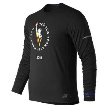 New Balance NYC Marathon NB Ice 2.0 Long Sleeve, Black