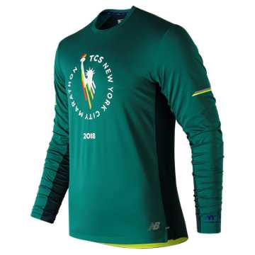 New Balance NYC Marathon NB Ice 2.0 Long Sleeve, Juniper