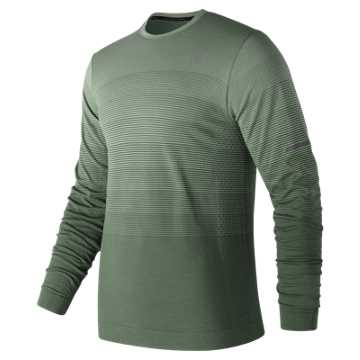 New Balance Merino Ombre Long Sleeve, Camp Smoke
