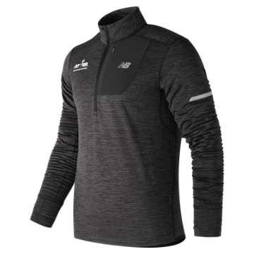 New Balance Run for Life NB Heat Quarter Zip, Heather Charcoal